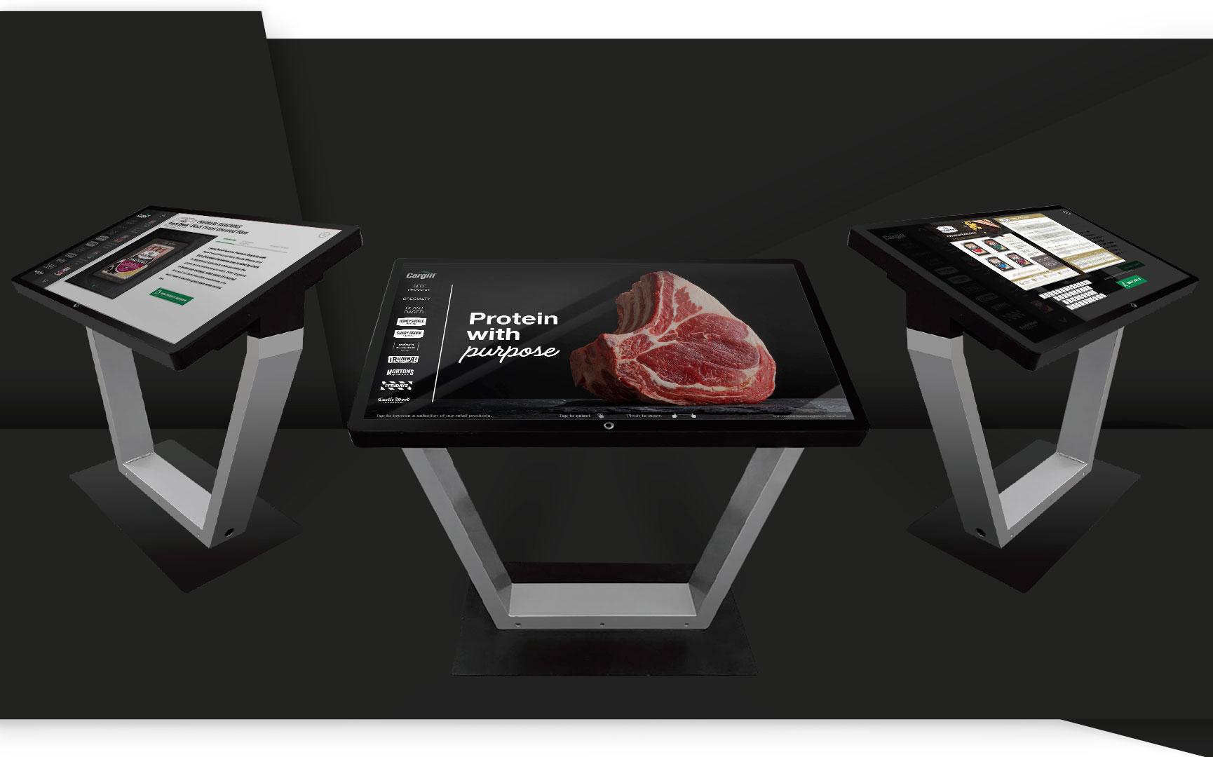 Cargill Trade Show Digital Meat Case