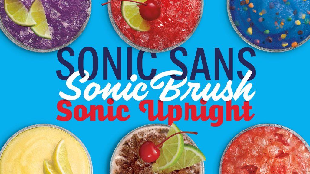 SONIC Drive In custom typeface