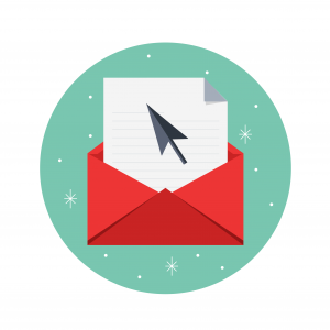 Holiday themed email icon