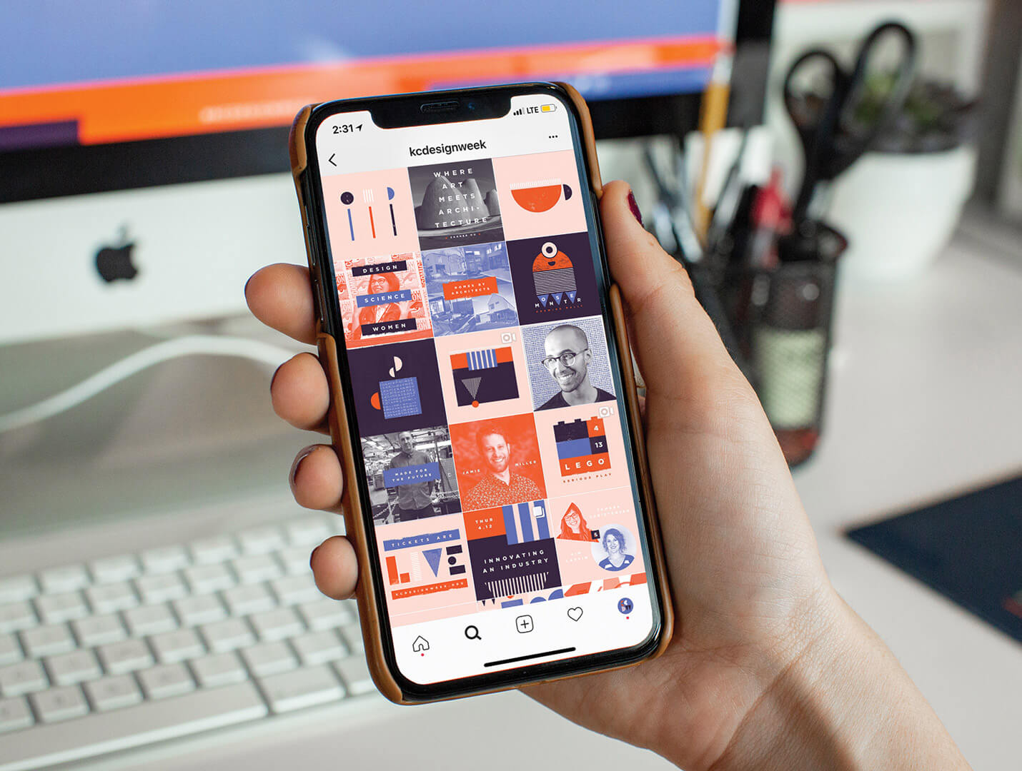 Kansas City Design InstaGram Feed on iPhone