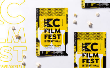 Array of passes for KC Film Fest with popcorn