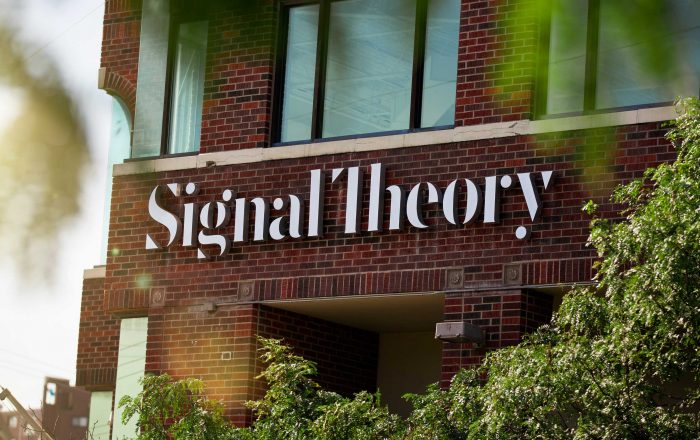 Signal Theory Westport Office Exterior Signage