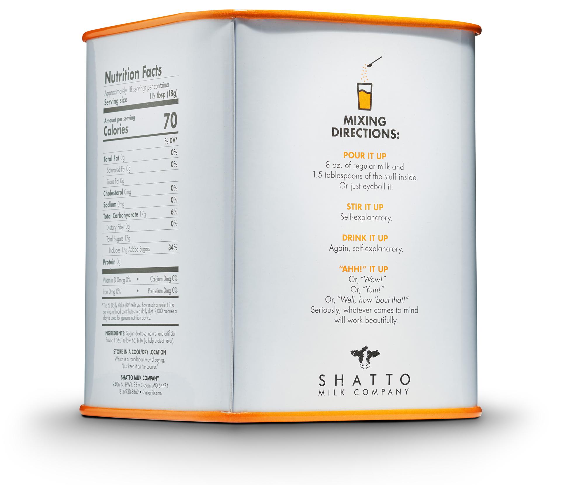 Shatto Milk Orange Flavorizer Tin Back