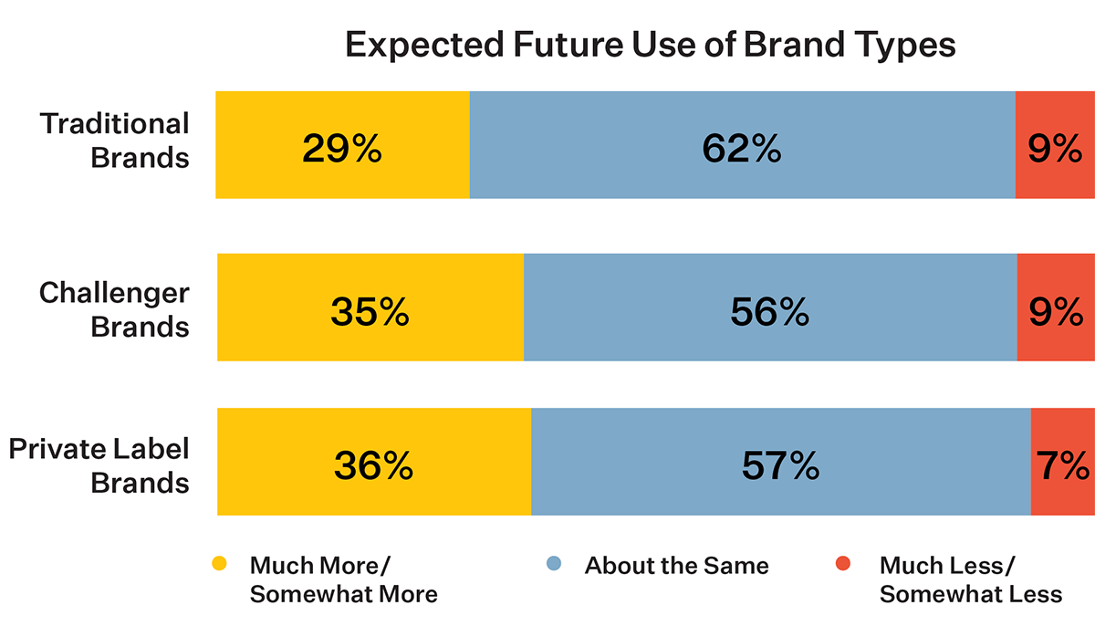 Expected Future Use of Brand Types Chart