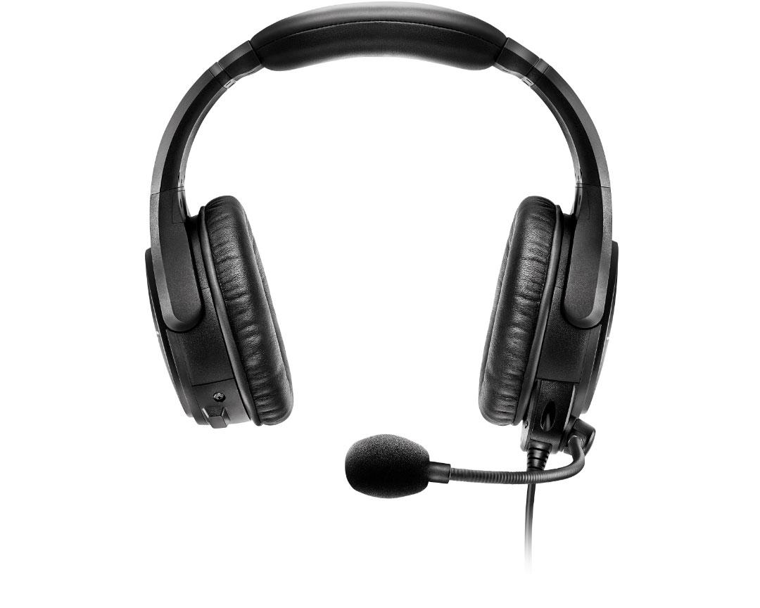 Bose SoundComm B40 headset isolated on white. Head-on.