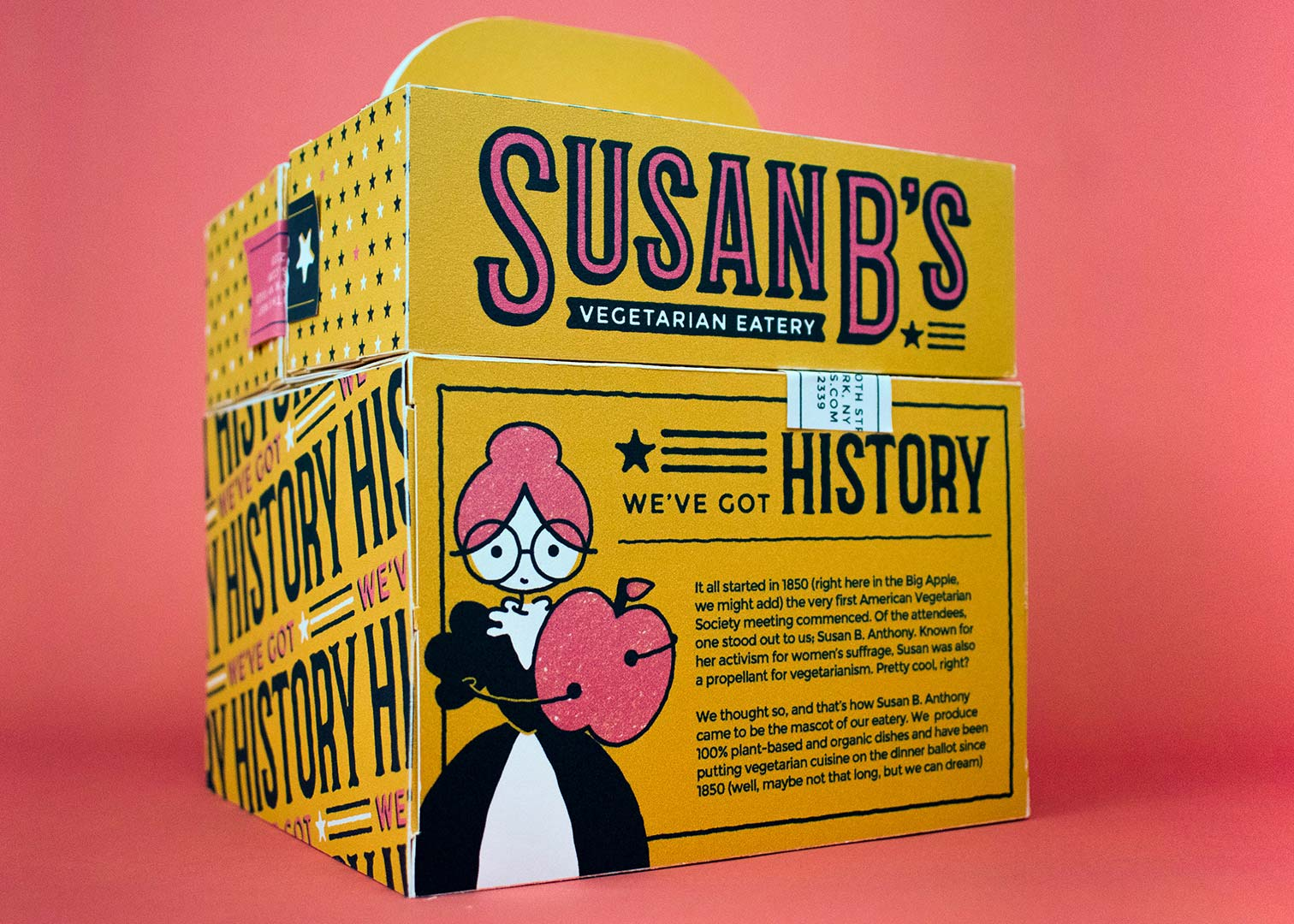 Susan B's Product Shot & History Text