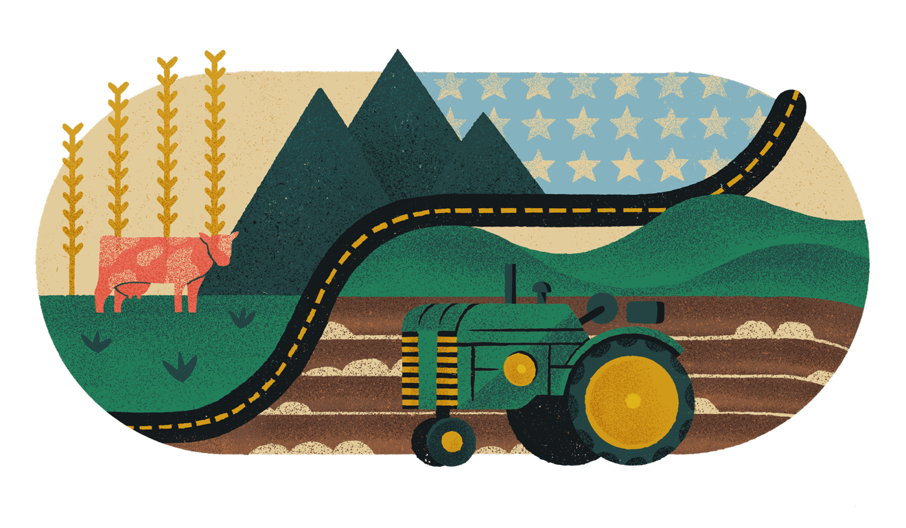 Rural Country Collage Illustration