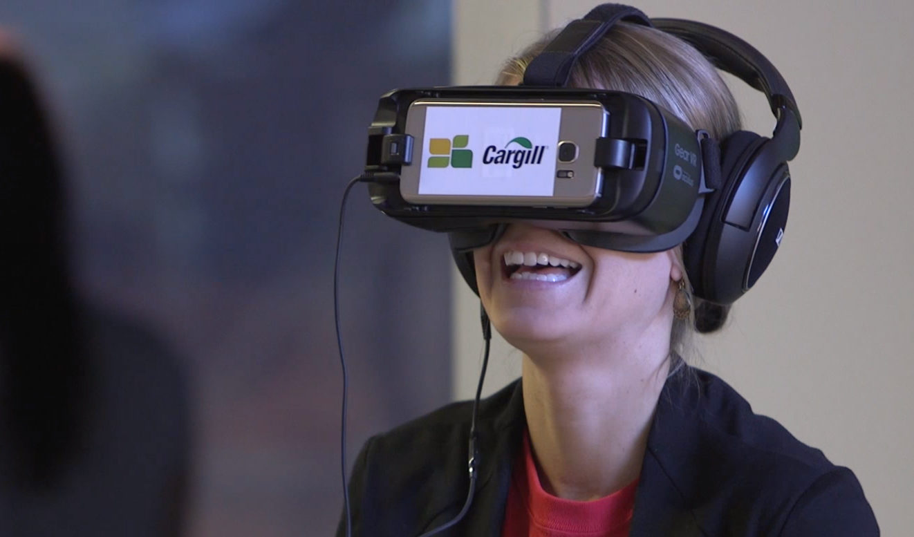 Person experiencing VR headset.