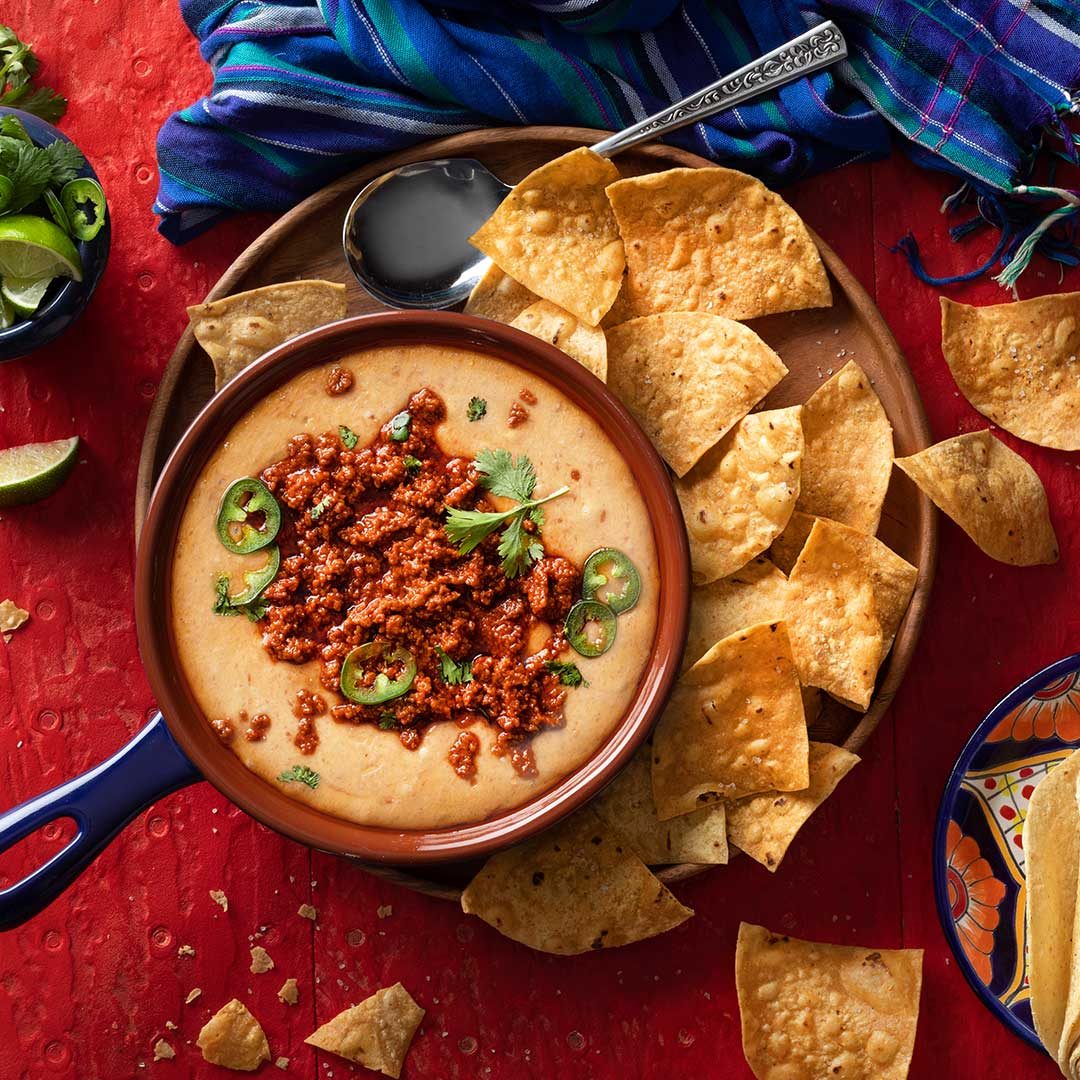 Chorizo, queso and chips