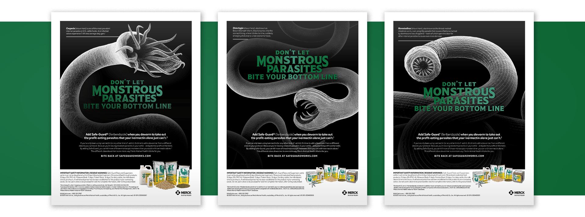 Merck Animal Health Safe-Guard Campaign Print Ads