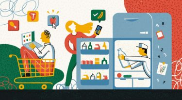 Online Grocery Store Illustration