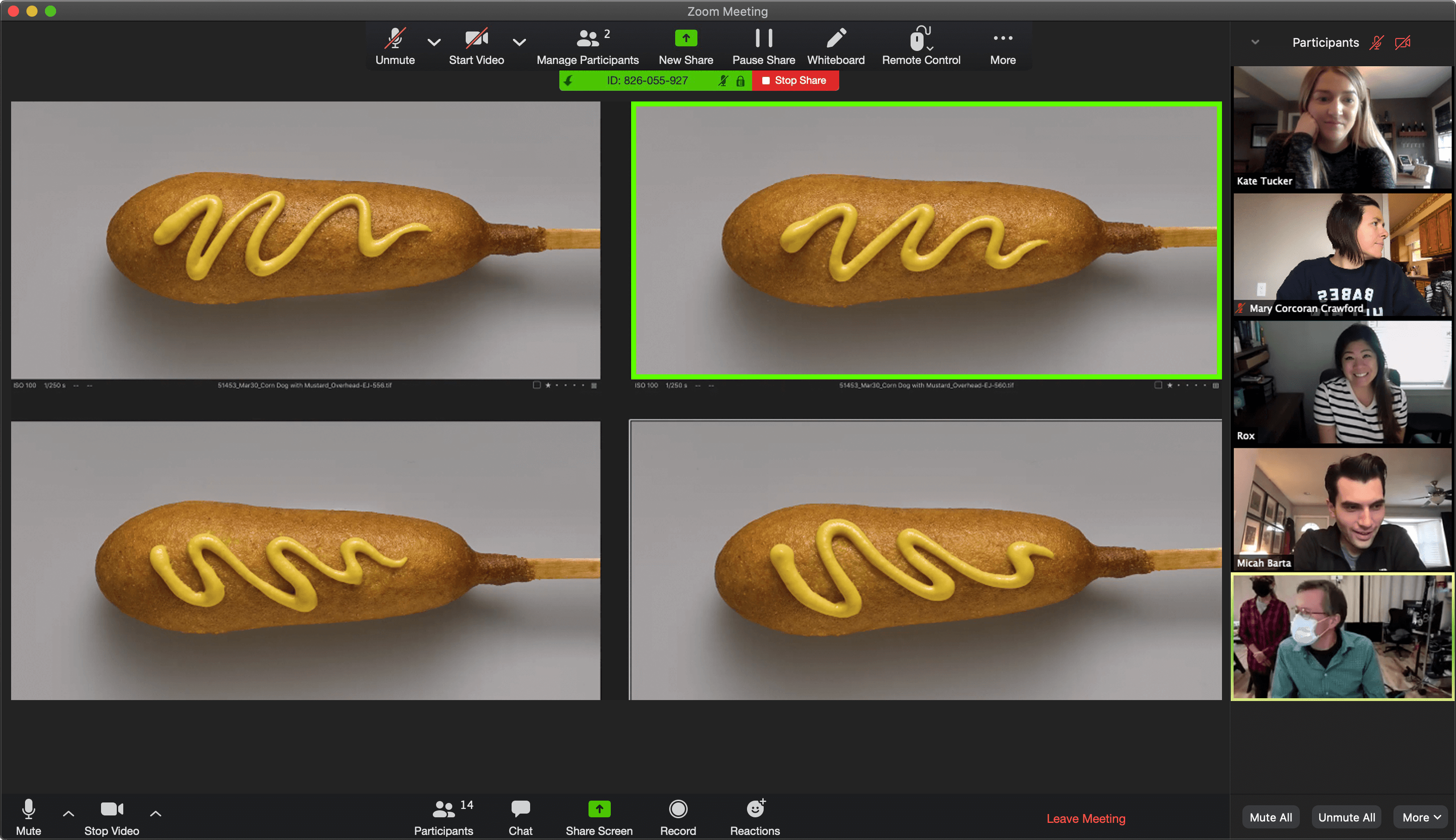 Selecting Corndog Photos