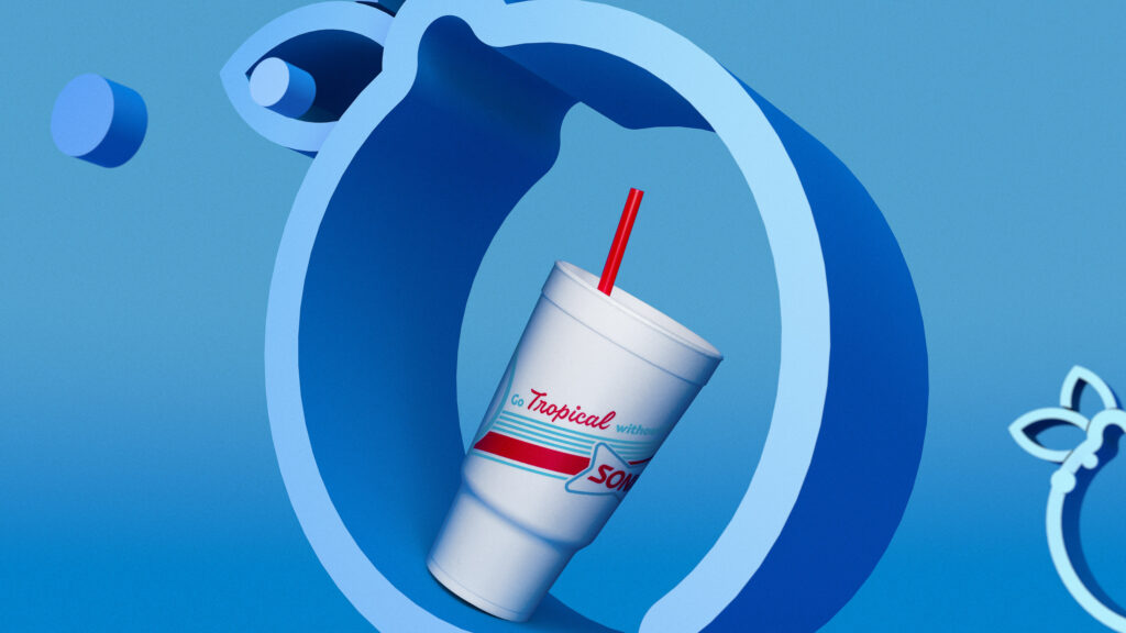 Sonic Drive-In Summer Cup Design Packaging